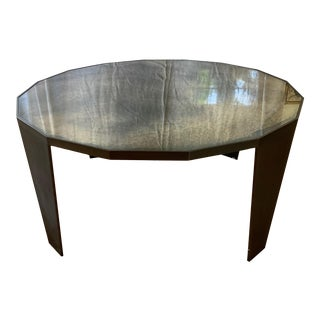 Antiqued Mirror and Bronze Coffee Table For Sale