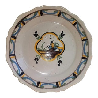 18th Century Polychrome Delft Plate For Sale