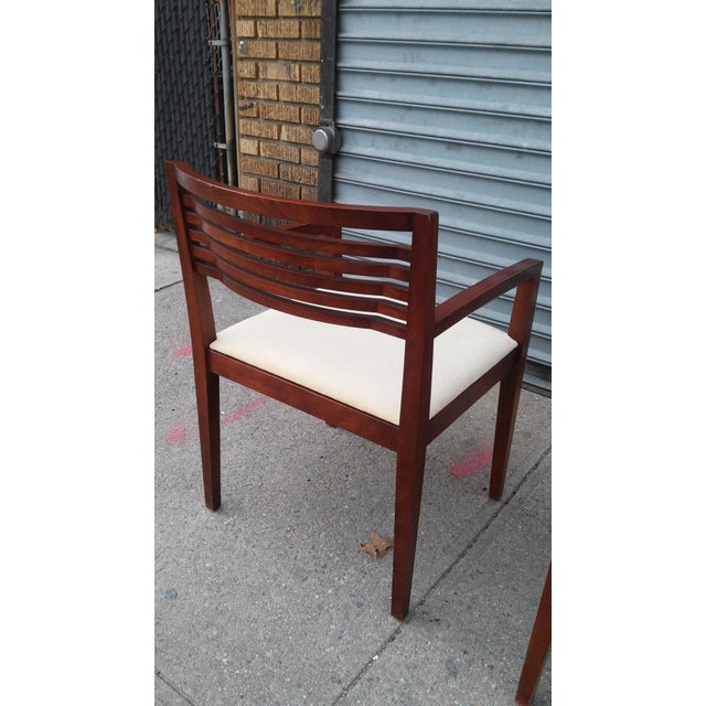 Modern 1990s Mahogany Knoll Ricchio Chairs - a Pair For Sale - Image 3 of 6