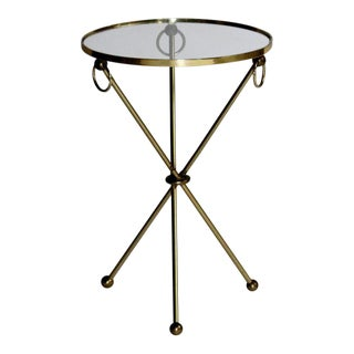 Brass Tripod Table With Loop Handles For Sale