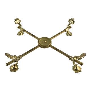 Adjustable Brass Pot Holder Trivet For Sale