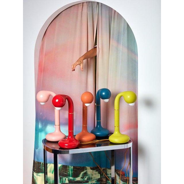 Entler Entler Blue Ceramic Table Lamp For Sale - Image 4 of 5