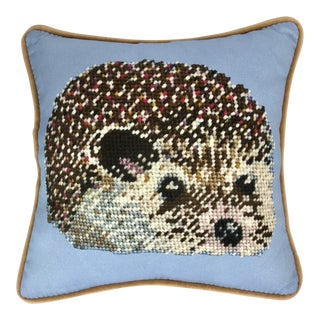 Cabin Decor / Hedgehog Pillow, Original Textile Art For Sale