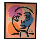 Image of Peter Keil Abstract Facial Painting For Sale