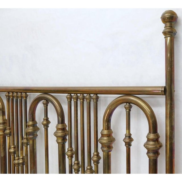 Mid 20th Century King Size Large Brass Headboard For Sale - Image 5 of 12