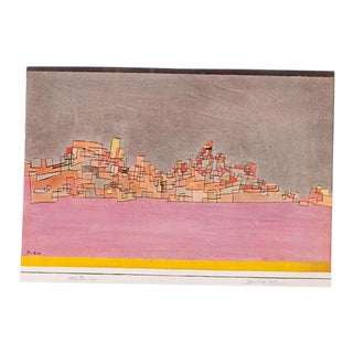 "1955 Paul Klee, First Edition Lithograph ""City on Two Hills"" For Sale"
