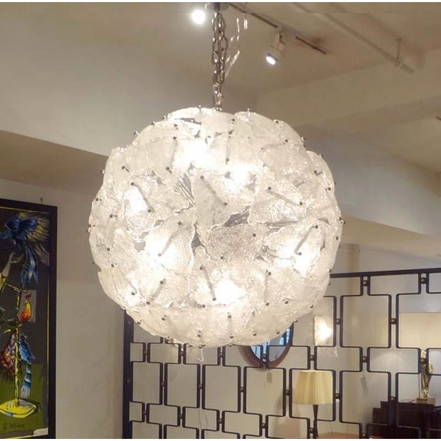 Mazzega Very Large-Scale Mid-Century Glass Sputnik Chandelier Italy circa 1960 For Sale - Image 9 of 10