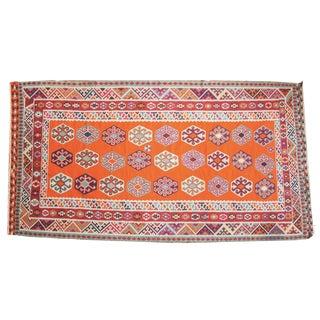 """Vintage Caucasian Kilim Carpet - 5' X 9'6"""" For Sale"""
