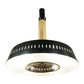 Stilnovo Lacquered Brass Ceiling Light, Italy, 1960s For Sale