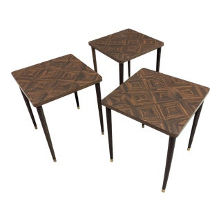 1960s Mid Century Modern Nesting Tables - Set of 3 For Sale