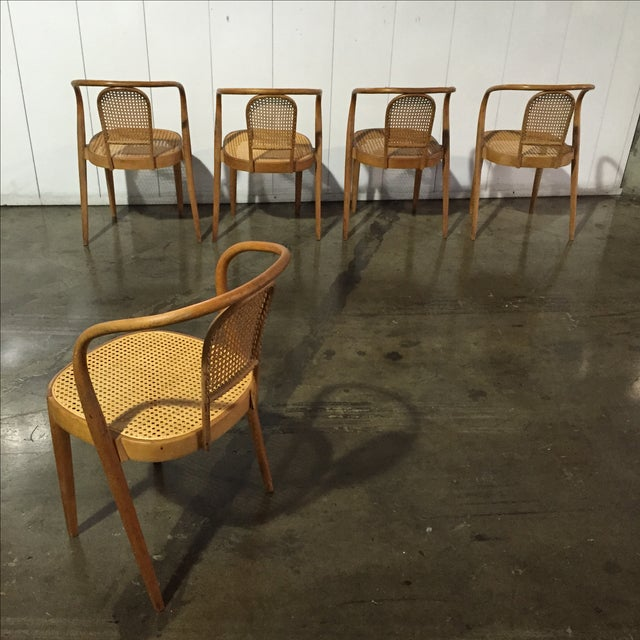 Vintage Thonet Stacking Chairs - Set of 5 - Image 4 of 6