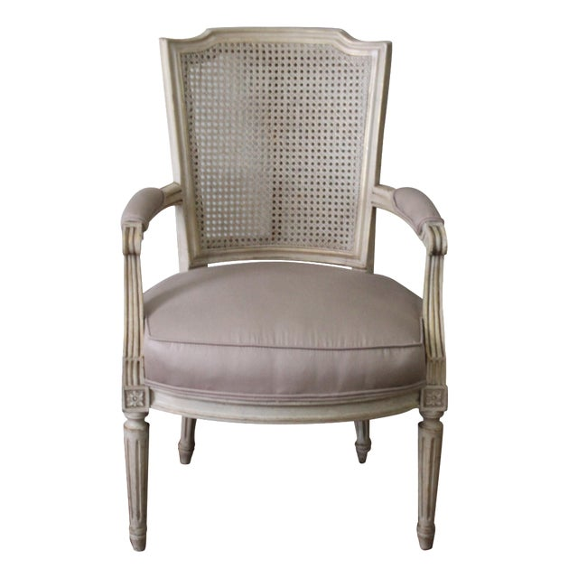 Antique French Caned Chair - Image 1 of 8