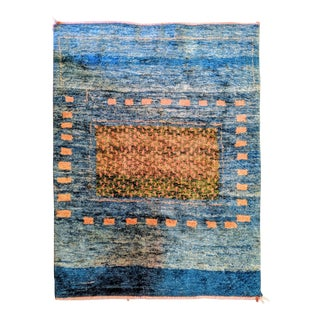 Signed Persian Gabbeh Handknotted Rug (5'x7') For Sale