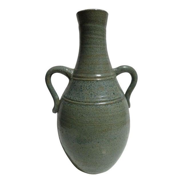 Pastel Blue Stoneware Vase - Image 3 of 3