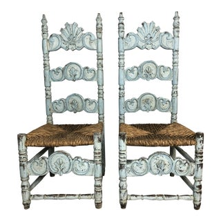 Late 19th Century Dutch Side Chairs- A Pair For Sale