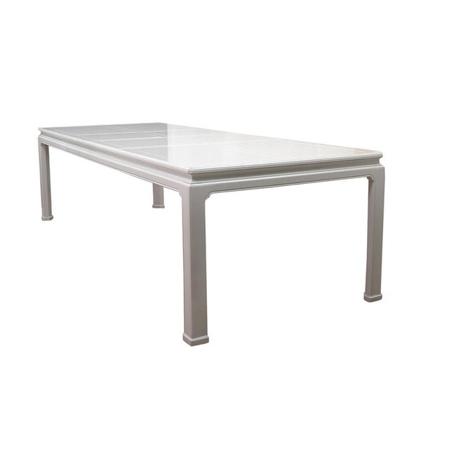 White 1960s Ming Henredon Dining Table For Sale - Image 8 of 8