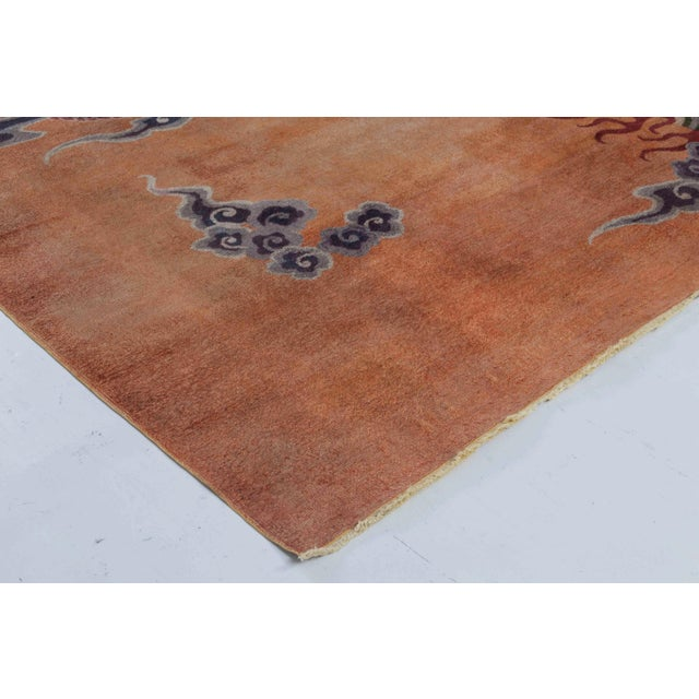Early 20th Century Antique Silk Chinese Rug For Sale - Image 5 of 7