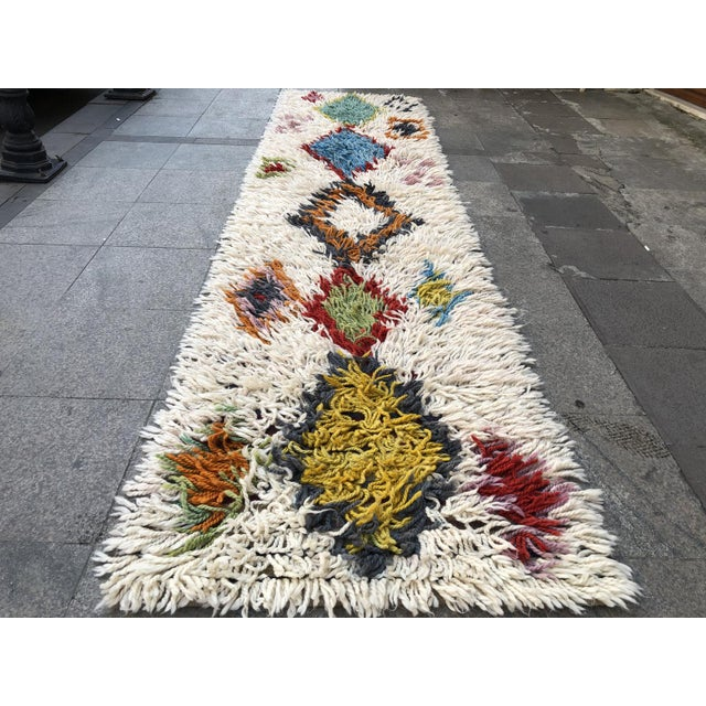 1970s 1970s Vintage Hand-Knotted Turkish Runner Rug - 2′9″ × 12′ For Sale - Image 5 of 11