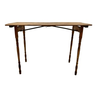 1940s Mid-Century Modern Folding Side Table For Sale