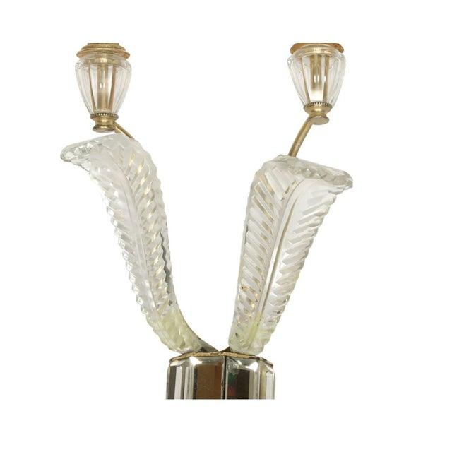 Maison Jansen Pair of Deco Crystal Two Arm Jansen Sconces For Sale - Image 4 of 5