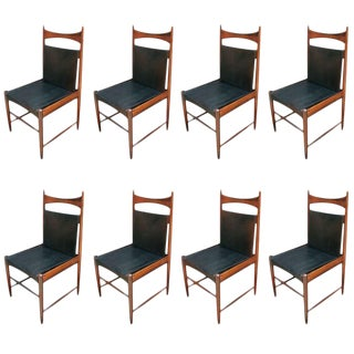 Sergio Rodrigues Cantu Chairs - Set of 8 For Sale