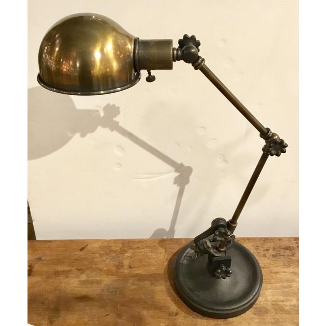 Peachy Modern Industrial Antique Brass Adjustable Desk Lamp Download Free Architecture Designs Viewormadebymaigaardcom