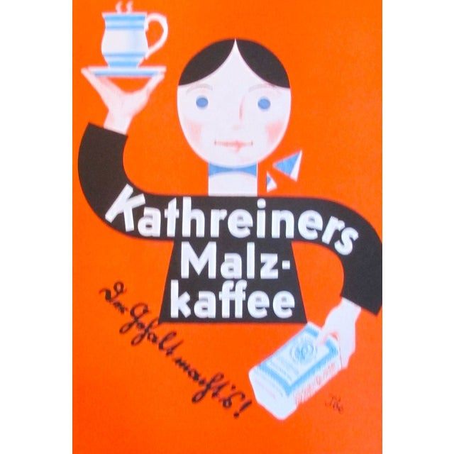 Original 1927 Lithographic Mini Poster of Kaffee - Image 3 of 4