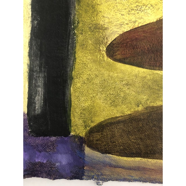 1950s Vintage Richard M. Goodwin Mid-Century Modern Abstract Painting For Sale - Image 4 of 7