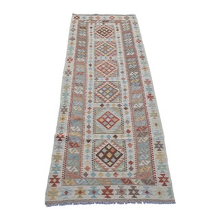 "Vintage Afghan Multi Color Runner Kilim - 2'7"" x 8'2"""