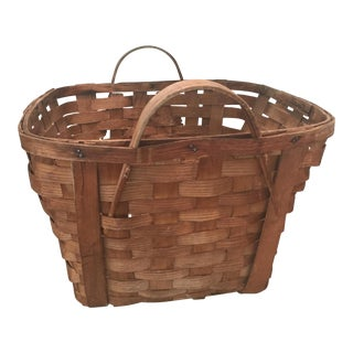 Splint Wood Basket