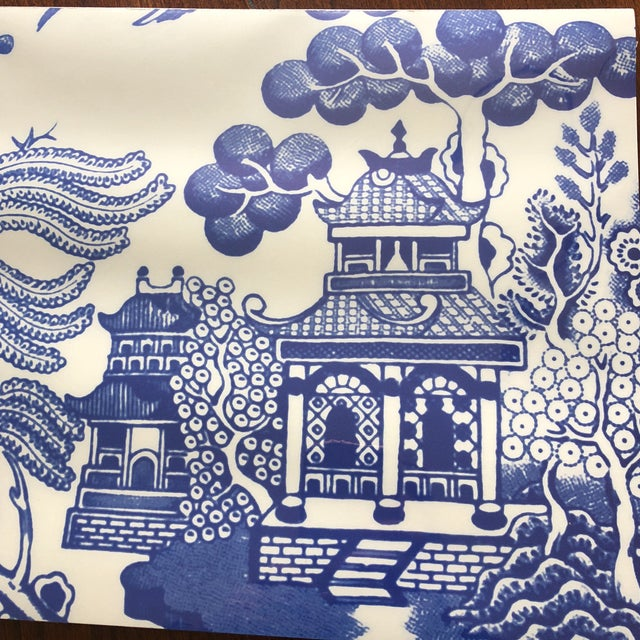 2010s Blue Chinoiserie Paper Place Mats - Set of 50 For Sale - Image 5 of 6