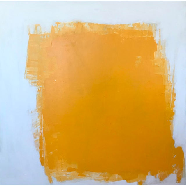 "Sarah Trundle ""Yellow"" Contemporary Abstract Painting For Sale"