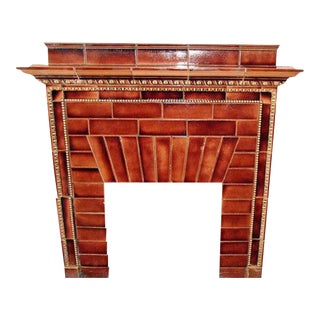 Iver Johnson Ceramic Tile Mantel For Sale