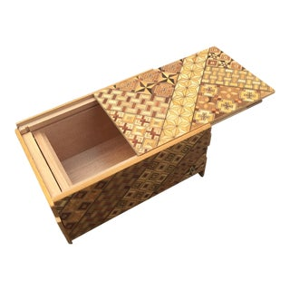 Japanese Wood Parquet Puzzle Box For Sale