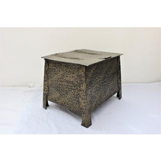 Mid-Century Modern Hammered Metal Trunk Preview