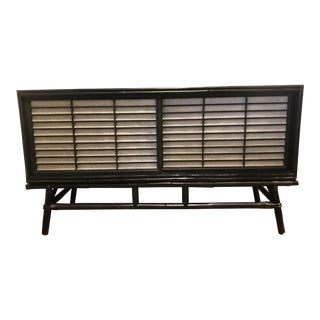 Japanese Sojo Style Console With Rice Paper Sliding Doors C.1960 For Sale