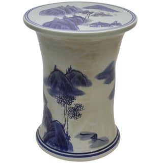 Chinese Blue and White Garden Seat For Sale
