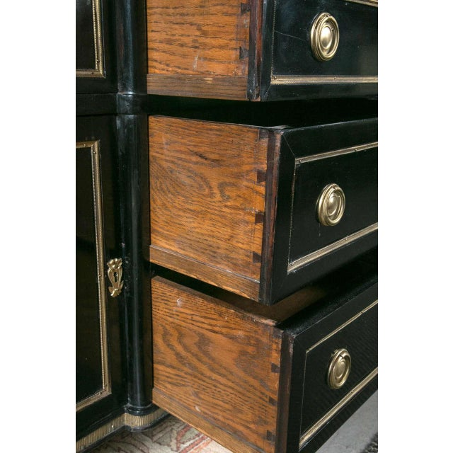 Maison Jansen Ebonized Marble Top Commode For Sale In New York - Image 6 of 11