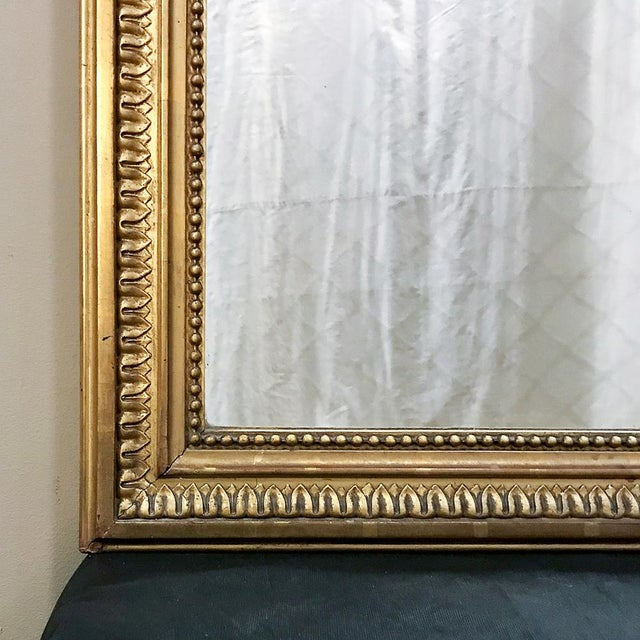 19th Century French Louis XVI Style Gilded Mirror For Sale - Image 9 of 12
