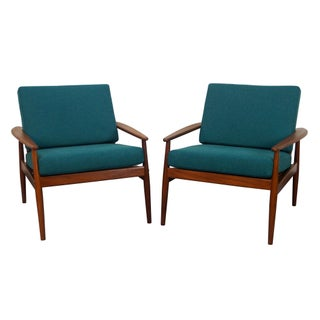 Danish Teak Lounge Chairs by Hans Olsen