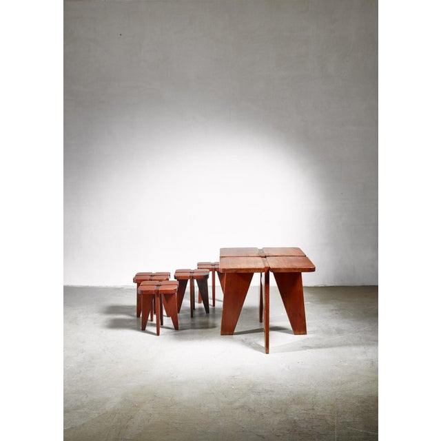 1950s Lisa Johansson-Pape Table and Stools for Stockman, 1950s For Sale - Image 5 of 5