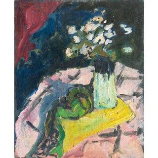 Kay Christensen Still Life of Flowers 1919 For Sale