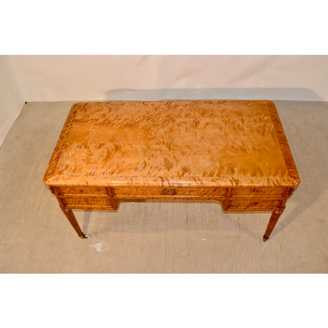19th Century Satin Birch Desk For Sale In Greensboro - Image 6 of 12
