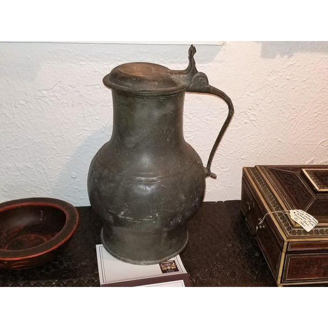 PRESENTING a GLORIOUS piece of EARLY AMERICANA, namely, a Colonial 18C American Colonial Pewter Tankard fbt Davenport....