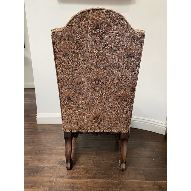 Late 20th Century Vintage French Louis XV Style Dining Chairs - Set of 8 For Sale - Image 5 of 13