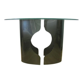 1970s Mid-Century Modern Glass Console For Sale