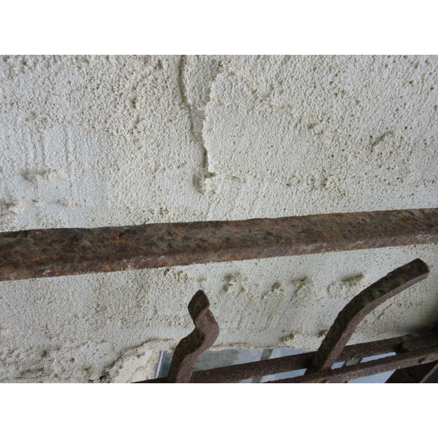Metal Antique Victorian Iron Gate or Garden Fence Element For Sale - Image 7 of 7