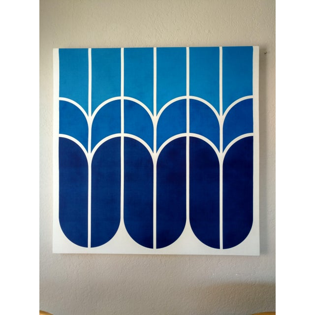 "Vintage 1970s Large-Scale Graphic Art ""Tulip"" - Image 4 of 5"