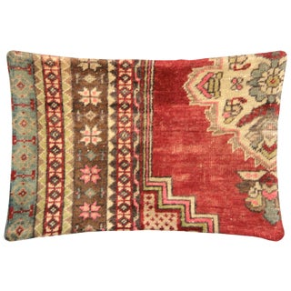 """1960s Turkish Oushak Pillow - 14"""" X 20"""" For Sale"""