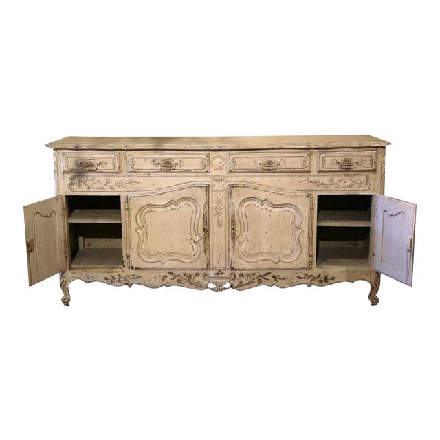 Early 20th Century French Louis XV Carved Painted Buffet - Image 1 of 9